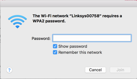 enter password to configure linksys router