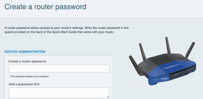 create a router password, linksys wifi router