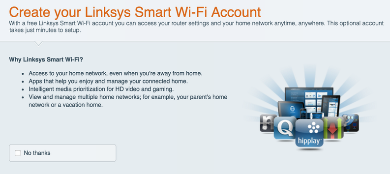 sign up for linksys smart wifi network