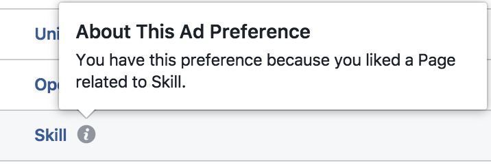 facebook ad preference explanation