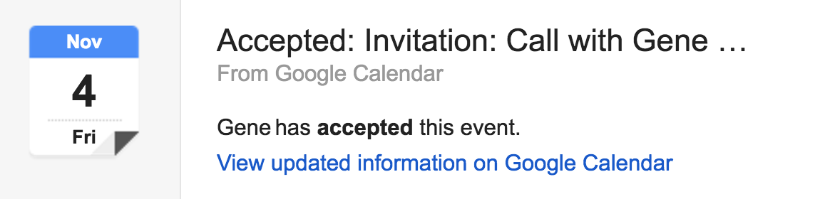 accepted google calendar event meeting invitation