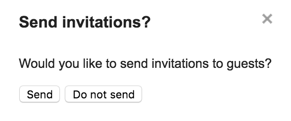 send invitations?