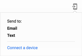 send email or text sms message? directions from google maps