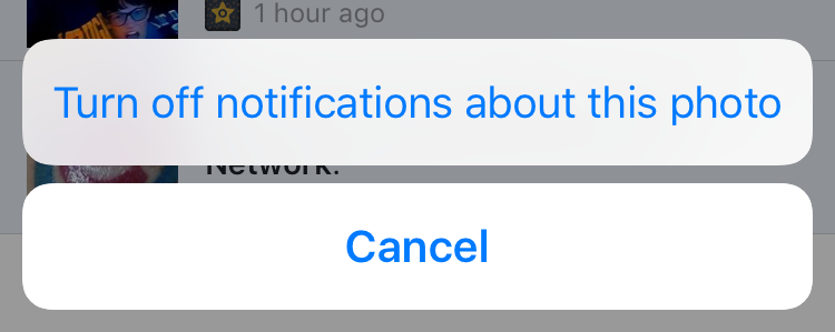 facebook app iphone ios ipad turn off ignore notifications