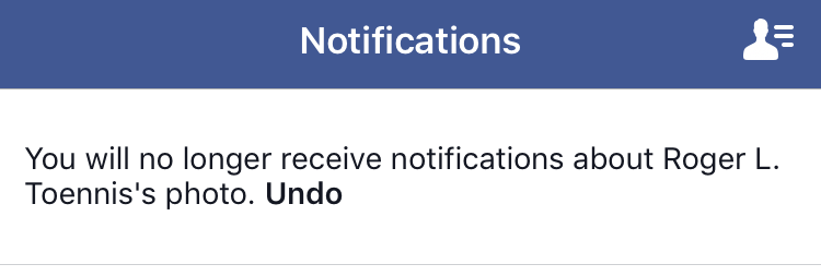 facebook notifications turned off