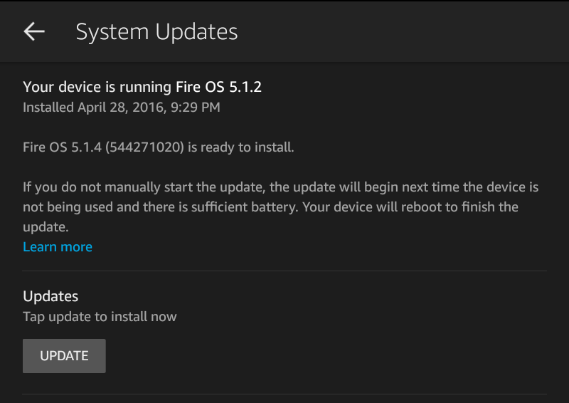 update os firmware system kindle fire hd