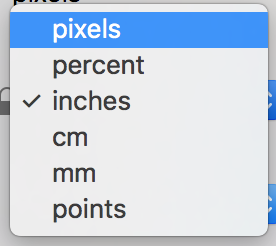 metric size inches pixels macos preview