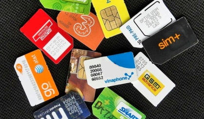 sim cards in a pile