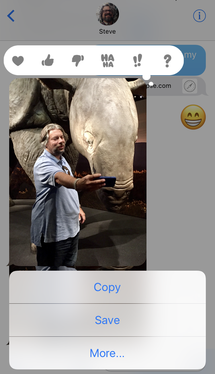 ios 10 save text message photo camera roll
