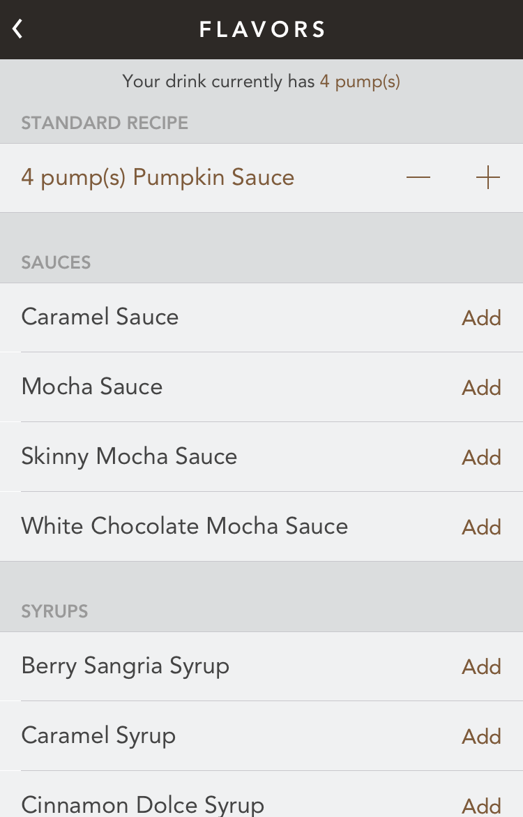 customize psl latte order starbucks