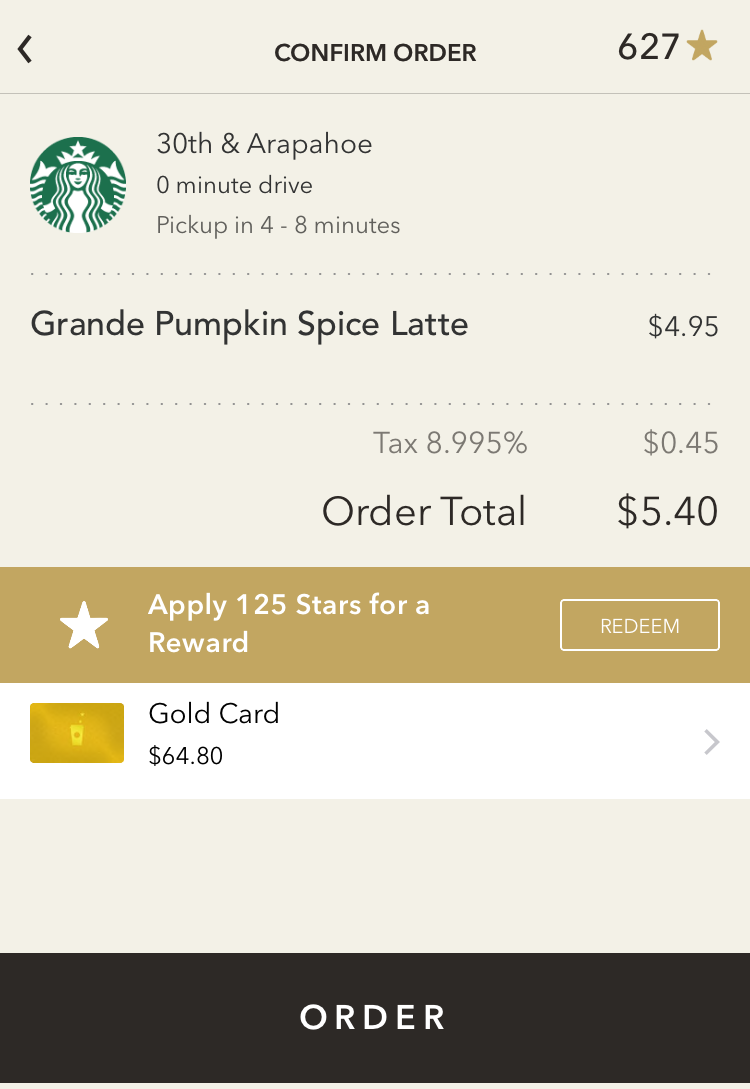 how to order coffee latte drink ahead in advance starbucks