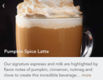 how to pre-order in advance coffee latte pumpkin spice custom drink starbucks app