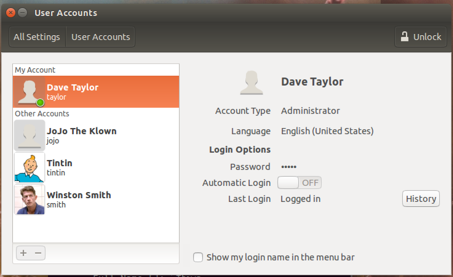 ubuntu linux user accounts account management add user