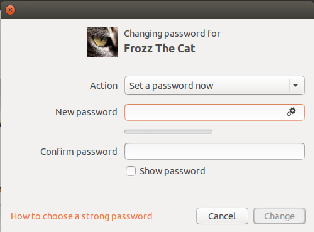 add password ubuntu new user account