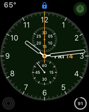 apple watch face, watch locked