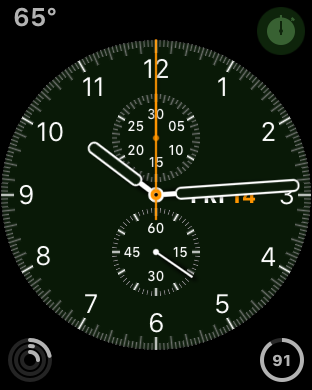 apple watch, chrono face, unlocked