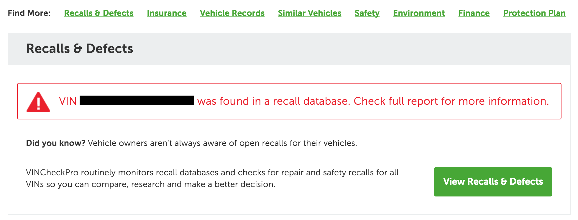 Recalls on mazda vin