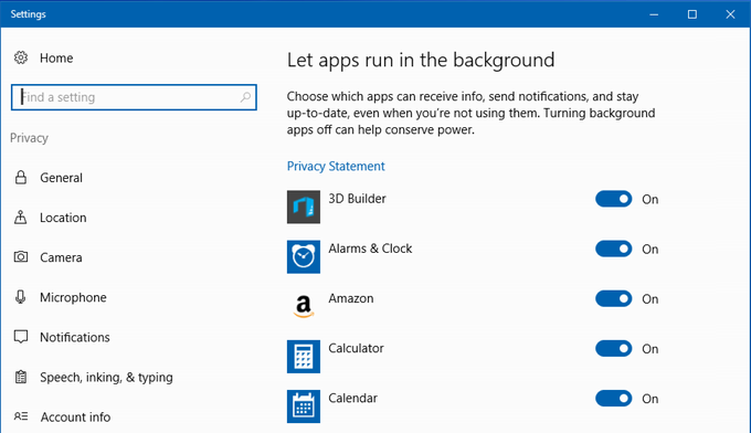 choose which apps run in background windows 10 win10