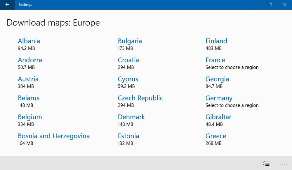 download windows maps win10 europe map data