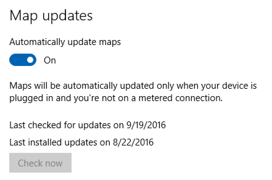 download map updates automatically windows maps