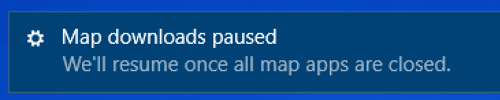 map download paused