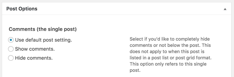wordpress comments admin backend controls settings
