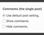 how to disable hide turn off comments wordpress blog entry page post