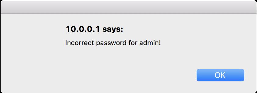 invalid password