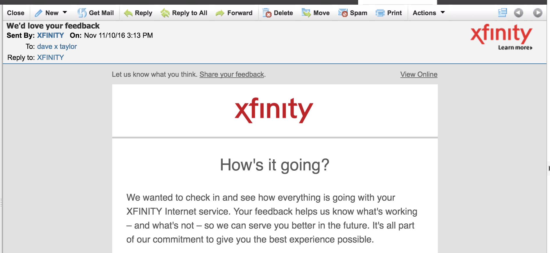 Create Email Folders in Comcast Xfinity Webmail? - Ask Dave Taylor