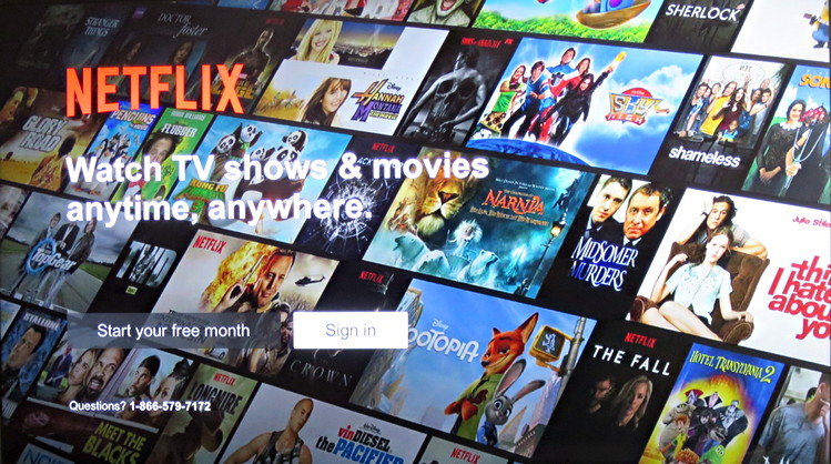 netflix sign up / sign in screen