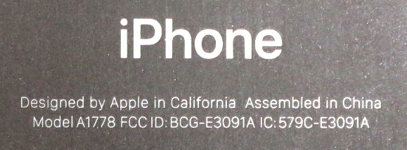 iphone small print model information info on back of phone