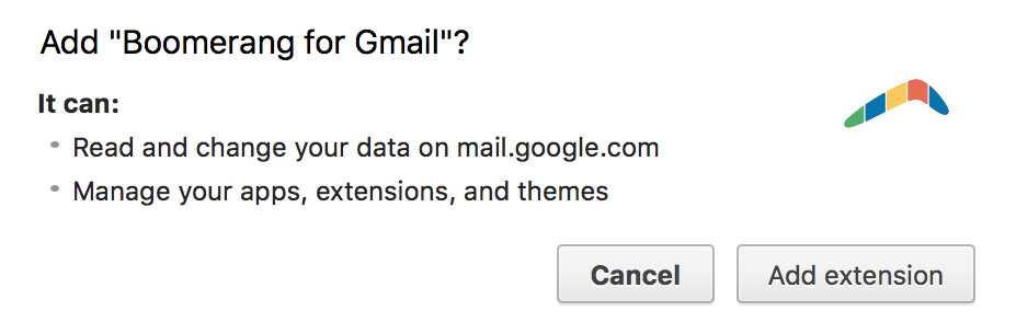 install boomerang for gmail?