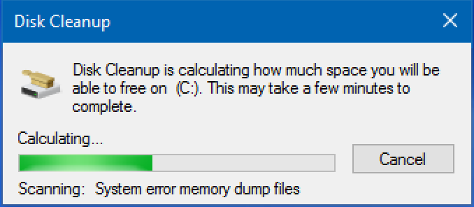 disk usage win10 collecting disk space info