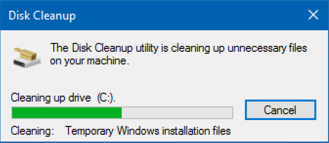 win10 deleting unneeded unused system files free up disk space
