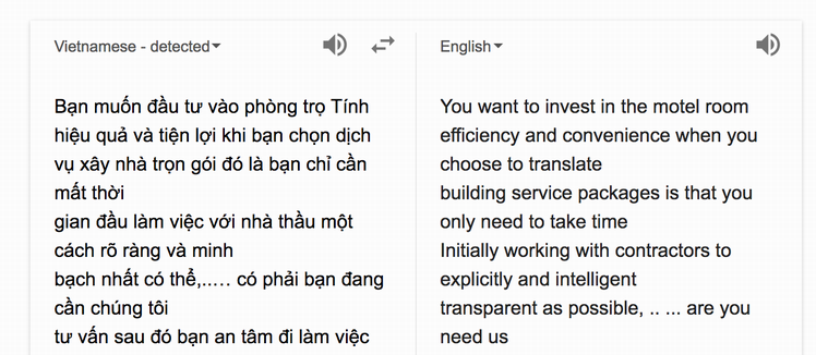 vietnamese spam comment wordpress translated english