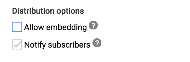 allow youtube video embed embedding setting preference