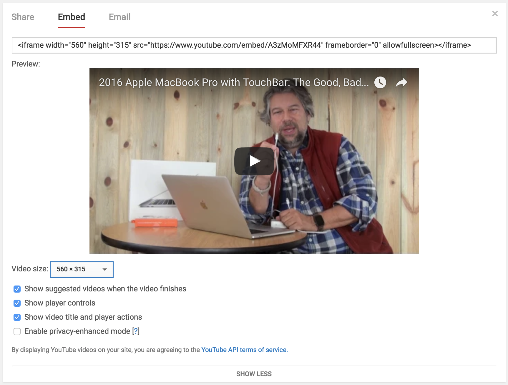 embed options youtube star video popular