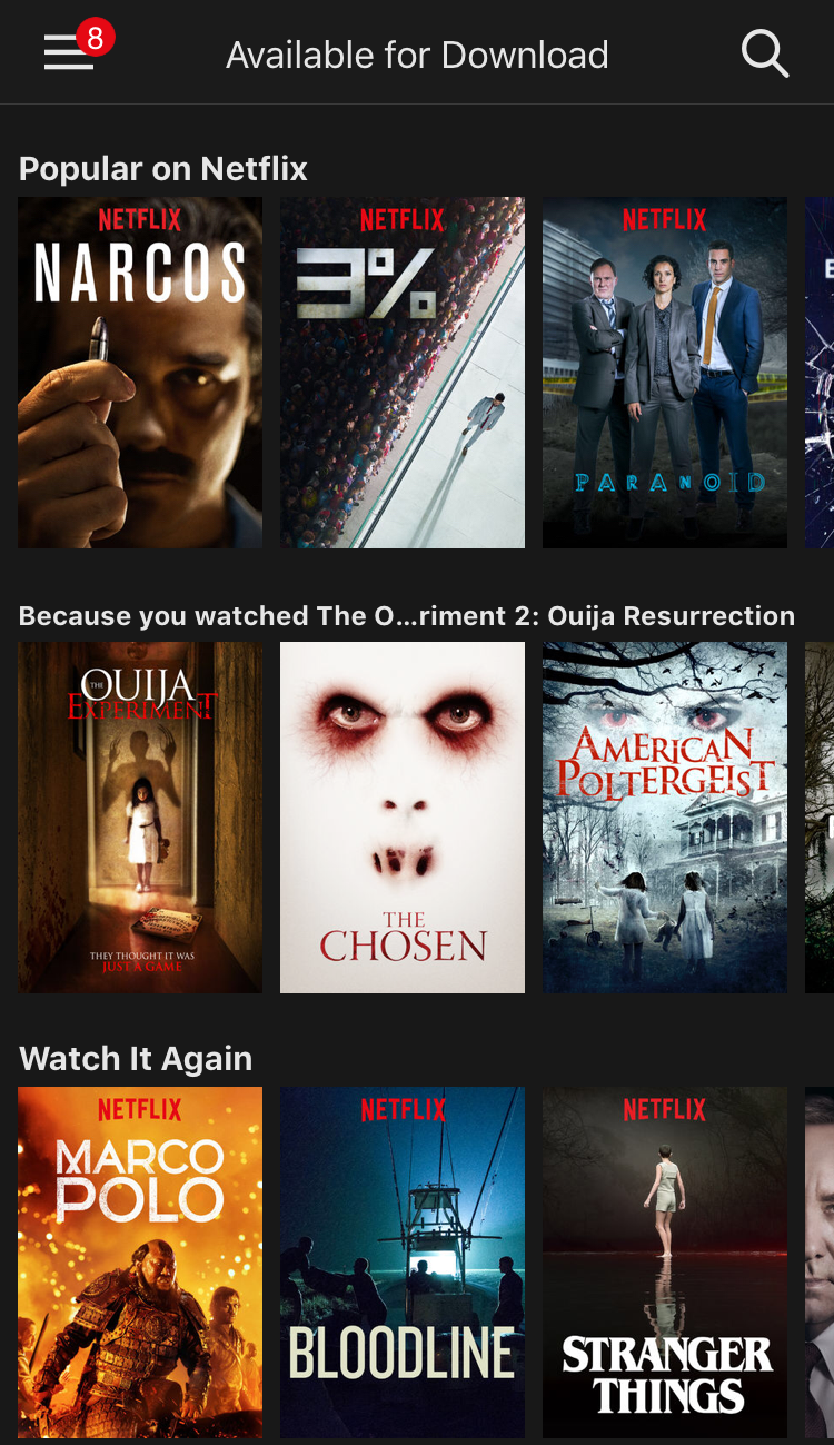 movies tv video content available ready to download watch netflix ios app