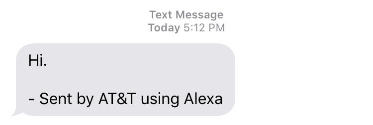 text message sent via alexa at&t send text message sms skill echo