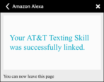 how to set up enable amazon echo alexa at&t send message txt text sms skill