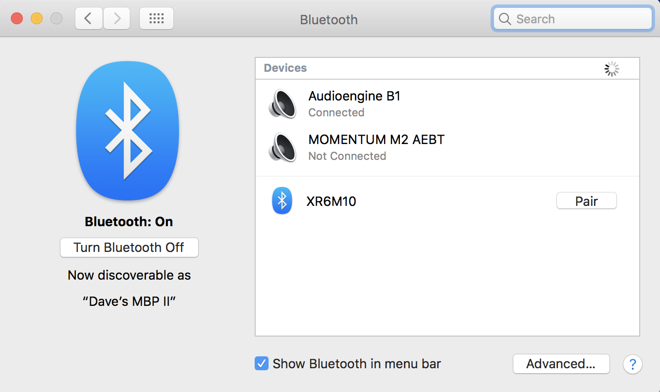 macos x bluetooth settings preferences