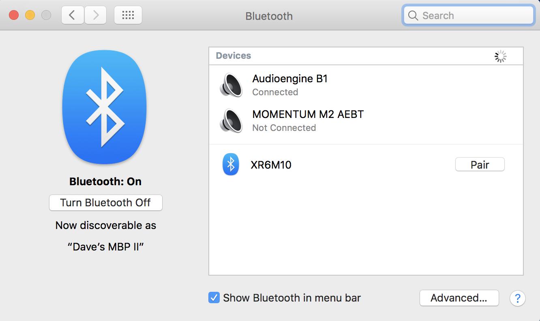 macos x bluetooth settings preferences