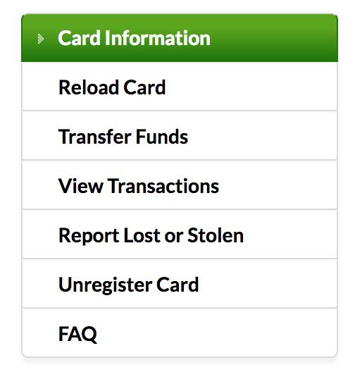 starbucks account menu options