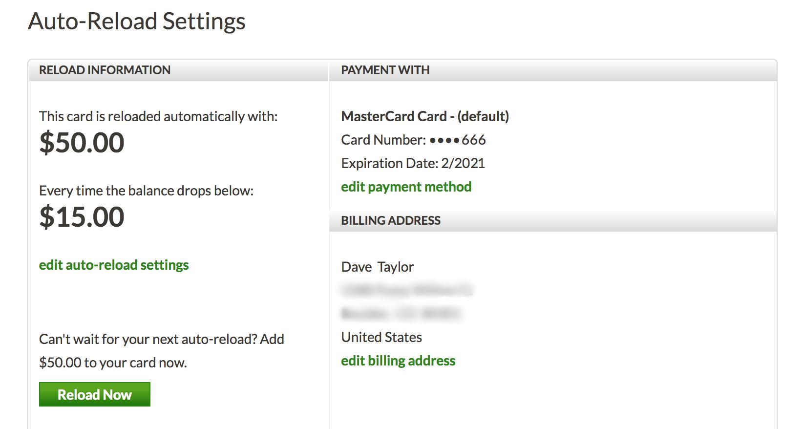 account details, starbucks card