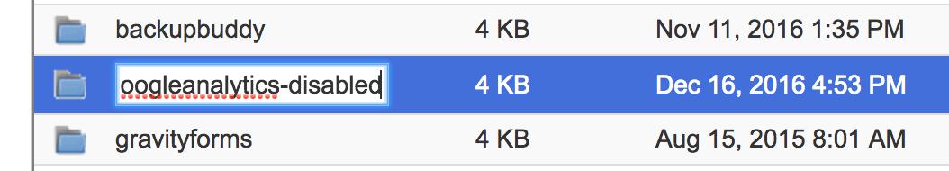 rename plugin folder, wordpress via ftp
