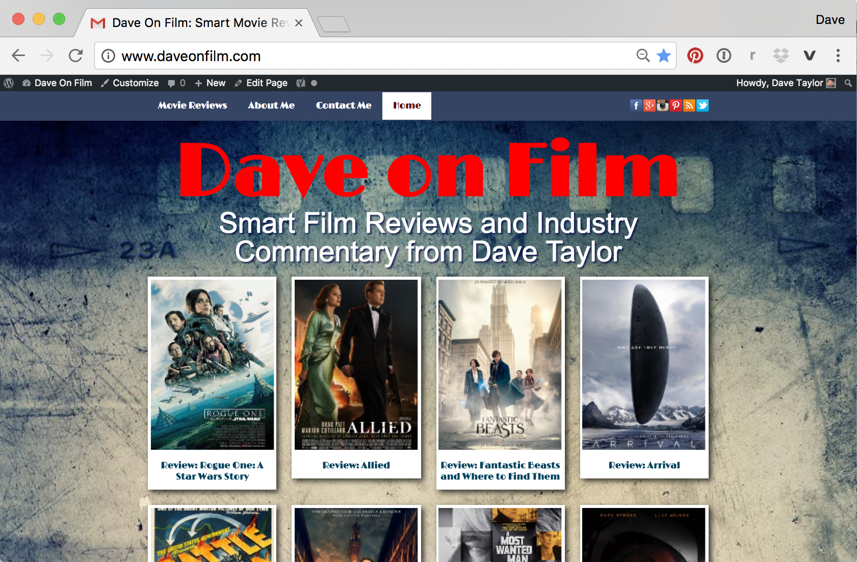 daveonfilm.com dave on film reviews criticism web home page blog wordpress