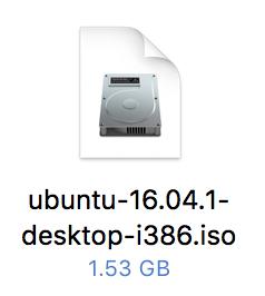 ubuntu 16.04.1 desktop i386 iso image icon macos