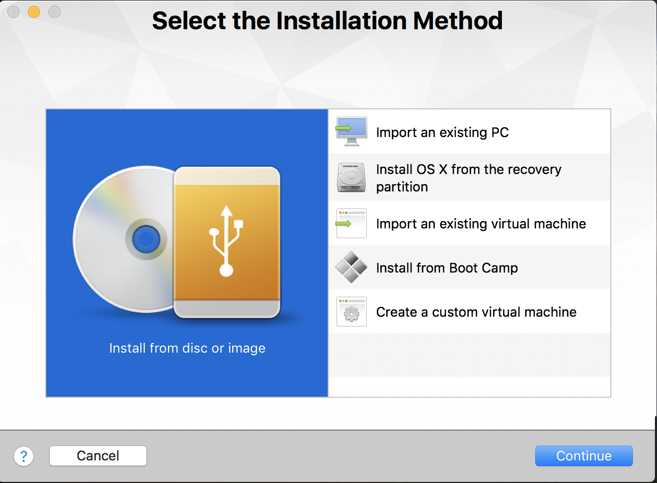 create new virtual machine vmware fusion