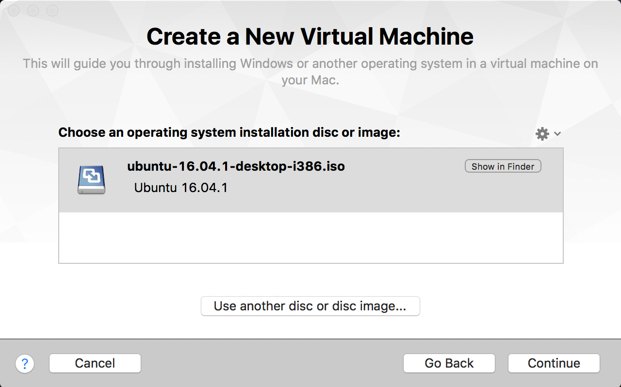 create a new virtual machine linux vmware fusion mac os x