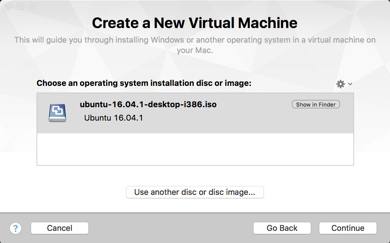 create a new virtual machine linux vmware fusion mac os x